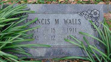 WALLS, FRANCIS M - Lonoke County, Arkansas | FRANCIS M WALLS - Arkansas Gravestone Photos