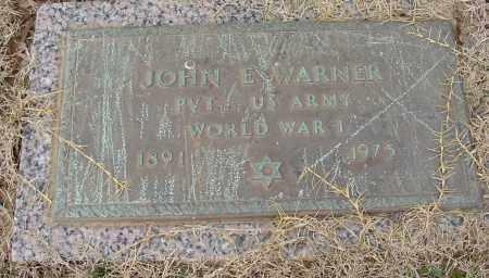 WARNER (VETERAN WWI), JOHN E - Lonoke County, Arkansas | JOHN E WARNER (VETERAN WWI) - Arkansas Gravestone Photos