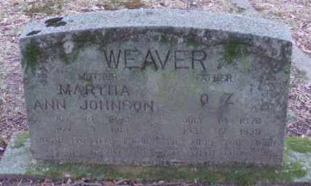 WEAVER, O  Z - Lonoke County, Arkansas | O  Z WEAVER - Arkansas Gravestone Photos