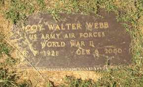 WEBB  (VETERAN WWII), COY WALTER - Lonoke County, Arkansas | COY WALTER WEBB  (VETERAN WWII) - Arkansas Gravestone Photos