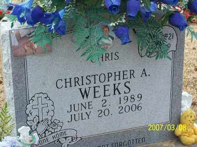 WEEKS, CHRISTOPHER A. - Lonoke County, Arkansas | CHRISTOPHER A. WEEKS - Arkansas Gravestone Photos