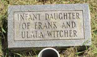 WITCHER, INFANT DAUGHTER - Lonoke County, Arkansas | INFANT DAUGHTER WITCHER - Arkansas Gravestone Photos