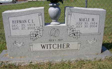 WITCHER, MACLE M. - Lonoke County, Arkansas | MACLE M. WITCHER - Arkansas Gravestone Photos