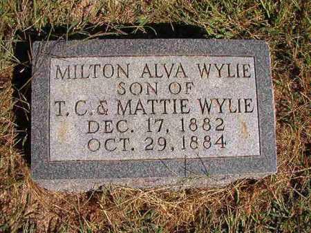 WYLIE, MILTON ALVA - Lonoke County, Arkansas | MILTON ALVA WYLIE - Arkansas Gravestone Photos