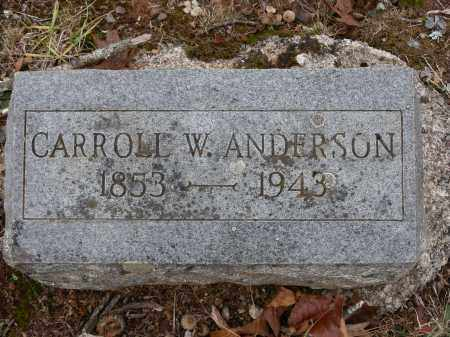 ANDERSON, CARROLL WARD - Madison County, Arkansas | CARROLL WARD ANDERSON - Arkansas Gravestone Photos
