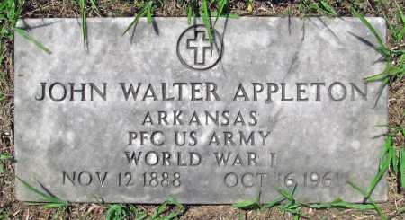 APPLETON (VETERAN WWI), JOHN WALTER - Madison County, Arkansas | JOHN WALTER APPLETON (VETERAN WWI) - Arkansas Gravestone Photos