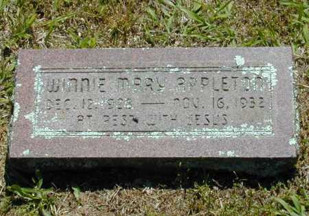 APPLETON, WINNIE MARY - Madison County, Arkansas | WINNIE MARY APPLETON - Arkansas Gravestone Photos