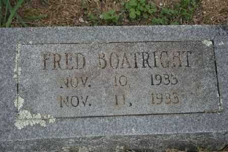 BOATRIGHT, FRED - Madison County, Arkansas | FRED BOATRIGHT - Arkansas Gravestone Photos