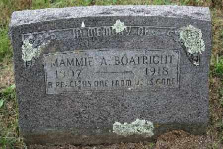 BOATRIGHT, MAMMIE A. - Madison County, Arkansas | MAMMIE A. BOATRIGHT - Arkansas Gravestone Photos