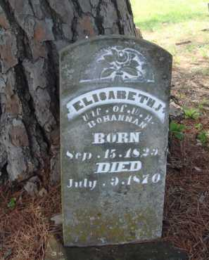 BOHANNAN, ELISABETH J. - Madison County, Arkansas | ELISABETH J. BOHANNAN - Arkansas Gravestone Photos