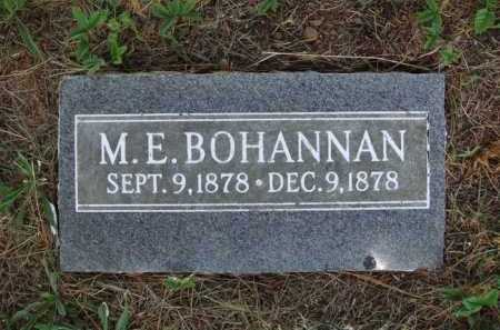 BOHANNAN, M. E. - Madison County, Arkansas | M. E. BOHANNAN - Arkansas Gravestone Photos