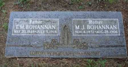 BOHANNAN, M. J. - Madison County, Arkansas | M. J. BOHANNAN - Arkansas Gravestone Photos