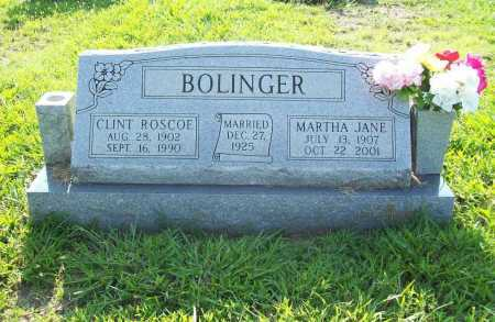 BOLINGER, CLINT ROSCOE - Madison County, Arkansas | CLINT ROSCOE BOLINGER - Arkansas Gravestone Photos