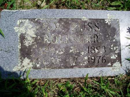 BOLINGER, G. W. RUSS - Madison County, Arkansas | G. W. RUSS BOLINGER - Arkansas Gravestone Photos