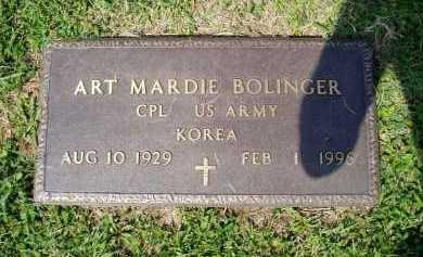 BOLINGER (VETERAN KOR), ART MARDIE - Madison County, Arkansas | ART MARDIE BOLINGER (VETERAN KOR) - Arkansas Gravestone Photos