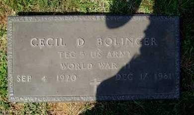 BOLINGER (VETERAN WWII), CECIL D. - Madison County, Arkansas | CECIL D. BOLINGER (VETERAN WWII) - Arkansas Gravestone Photos