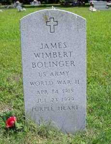 BOLINGER (VETERAN WWII), JAMES WIMBERT - Madison County, Arkansas | JAMES WIMBERT BOLINGER (VETERAN WWII) - Arkansas Gravestone Photos