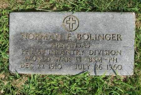BOLINGER (VETERAN WWII), NORMAN E. - Madison County, Arkansas | NORMAN E. BOLINGER (VETERAN WWII) - Arkansas Gravestone Photos