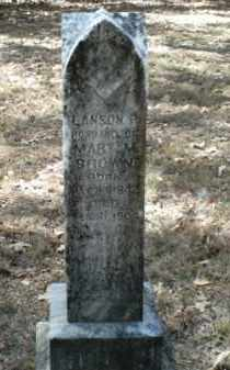 BROWN, LANSON P. - Madison County, Arkansas | LANSON P. BROWN - Arkansas Gravestone Photos