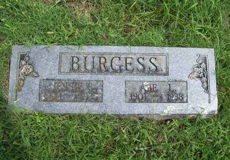BURGESS, JESSIE E. - Madison County, Arkansas | JESSIE E. BURGESS - Arkansas Gravestone Photos