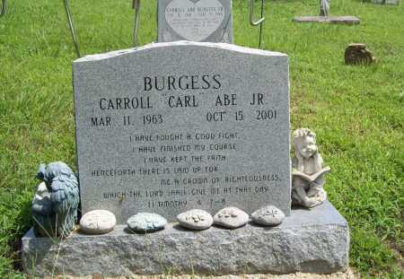 "BURGESS, CARROL ""CARL"" ABE JR. - Madison County, Arkansas 