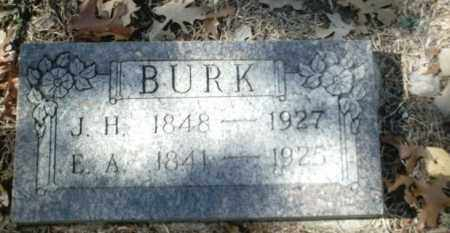 BURK, E. A. - Madison County, Arkansas | E. A. BURK - Arkansas Gravestone Photos
