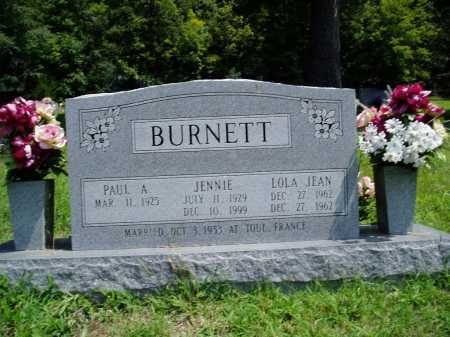 BURNETT, JENNIE - Madison County, Arkansas | JENNIE BURNETT - Arkansas Gravestone Photos