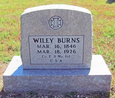 BURNS (VETERAN CSA), WILEY - Madison County, Arkansas | WILEY BURNS (VETERAN CSA) - Arkansas Gravestone Photos