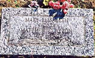 CLAYTON, MARY ELIZABETH - Madison County, Arkansas | MARY ELIZABETH CLAYTON - Arkansas Gravestone Photos