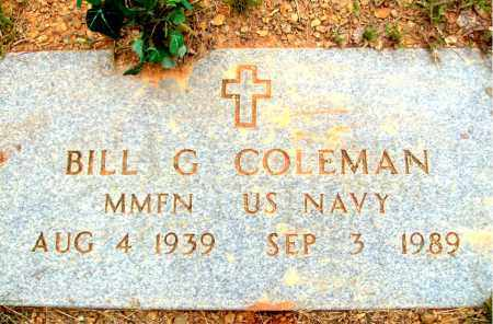 COLEMAN (VETERAN), BILL GORDON - Madison County, Arkansas   BILL GORDON COLEMAN (VETERAN) - Arkansas Gravestone Photos