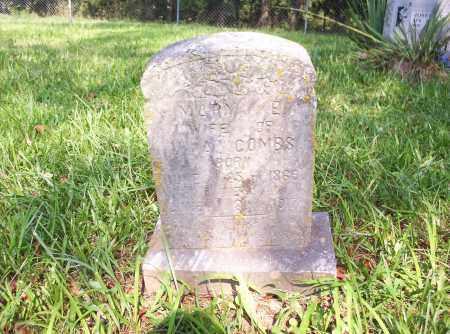 COMBS, MARY ELIZABETH - Madison County, Arkansas   MARY ELIZABETH COMBS - Arkansas Gravestone Photos