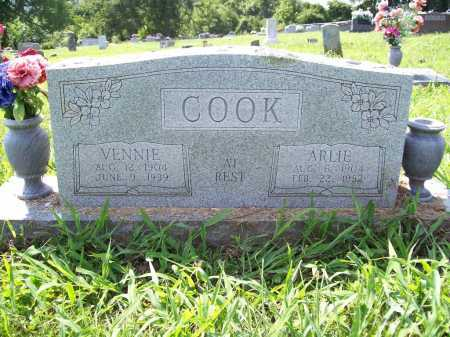 COOK, VENNIE - Madison County, Arkansas | VENNIE COOK - Arkansas Gravestone Photos