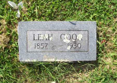 COOK, LEAH - Madison County, Arkansas | LEAH COOK - Arkansas Gravestone Photos