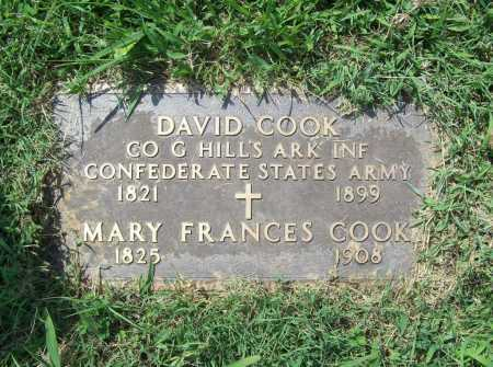 COOK (VETERAN CSA), DAVID - Madison County, Arkansas | DAVID COOK (VETERAN CSA) - Arkansas Gravestone Photos