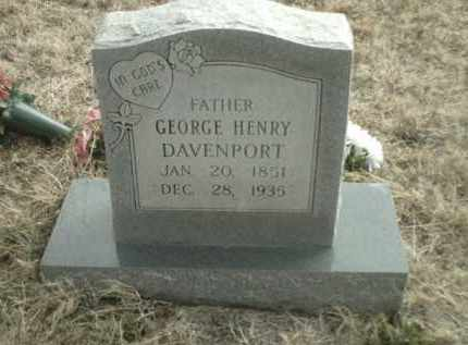 DAVENPORT, GEORGE HENRY - Madison County, Arkansas | GEORGE HENRY DAVENPORT - Arkansas Gravestone Photos