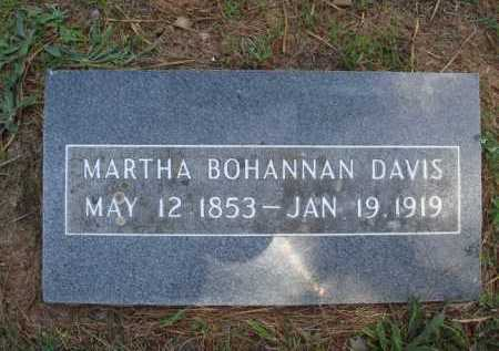 BOHANNAN DAVIS, MARTHA - Madison County, Arkansas | MARTHA BOHANNAN DAVIS - Arkansas Gravestone Photos