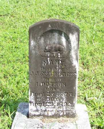 DOTSON, MARY - Madison County, Arkansas | MARY DOTSON - Arkansas Gravestone Photos