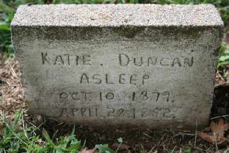 DUNCAN, KATIE - Madison County, Arkansas | KATIE DUNCAN - Arkansas Gravestone Photos
