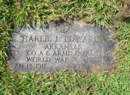 EDWARDS (VETERAN WWII), HARLIE L. - Madison County, Arkansas | HARLIE L. EDWARDS (VETERAN WWII) - Arkansas Gravestone Photos