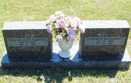 GLENN EUBANKS, MARTHA - Madison County, Arkansas | MARTHA GLENN EUBANKS - Arkansas Gravestone Photos