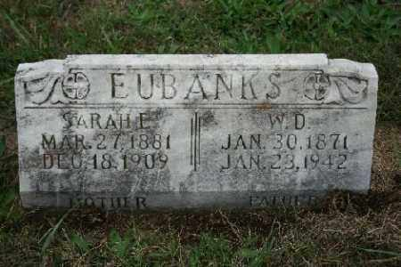 EUBANKS, SARAH E. - Madison County, Arkansas | SARAH E. EUBANKS - Arkansas Gravestone Photos