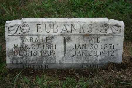 EUBANKS, W. D. - Madison County, Arkansas | W. D. EUBANKS - Arkansas Gravestone Photos