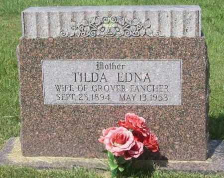 BURKS FANCHER, TILDA EDNA - Madison County, Arkansas | TILDA EDNA BURKS FANCHER - Arkansas Gravestone Photos