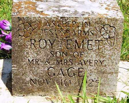 GAGE, ROY EMET - Madison County, Arkansas | ROY EMET GAGE - Arkansas Gravestone Photos
