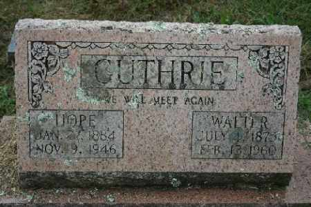 GUTHRIE, WALTER - Madison County, Arkansas | WALTER GUTHRIE - Arkansas Gravestone Photos