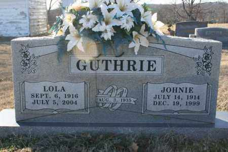 GUTHRIE, JOHNIE F. - Madison County, Arkansas | JOHNIE F. GUTHRIE - Arkansas Gravestone Photos