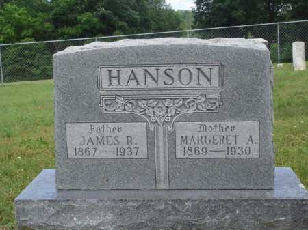HANSON, JAMES R. - Madison County, Arkansas | JAMES R. HANSON - Arkansas Gravestone Photos