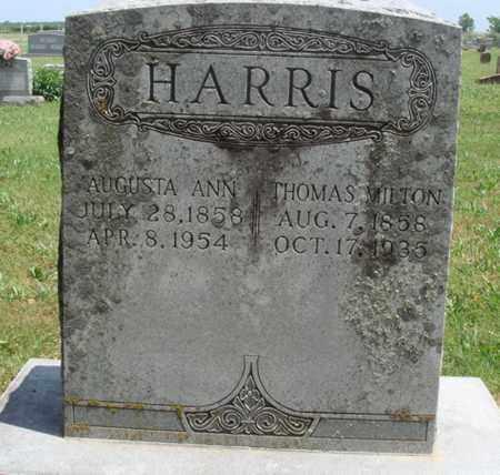 HARRIS, AUGUSTA ANN - Madison County, Arkansas | AUGUSTA ANN HARRIS - Arkansas Gravestone Photos