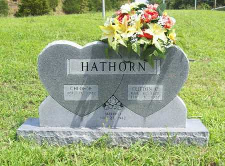 HATHORN, CLIFTON C. - Madison County, Arkansas | CLIFTON C. HATHORN - Arkansas Gravestone Photos