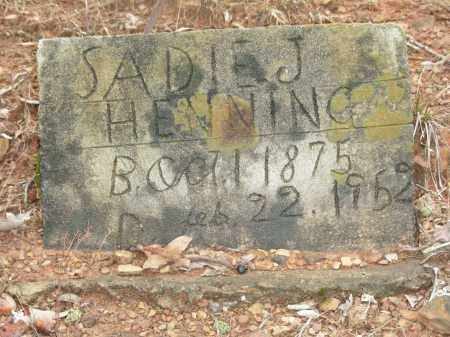 HENNING, SADIE J. - Madison County, Arkansas | SADIE J. HENNING - Arkansas Gravestone Photos